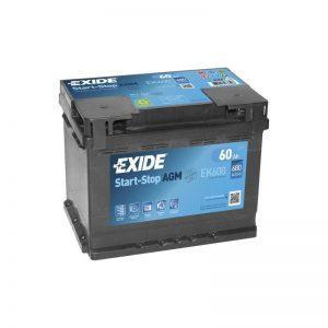 EXIDE 60Ah AGM AKKU EK600